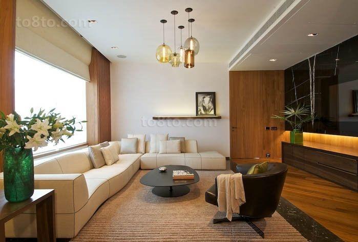 两室一厅美式风格客厅装修效果图大全2012图片