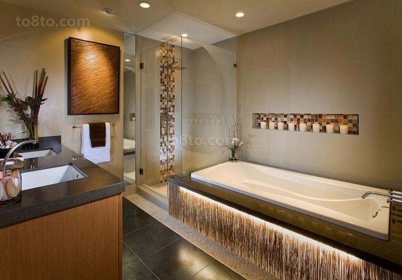 50平米小户型现代时尚的卫生间装修效果图大全2014