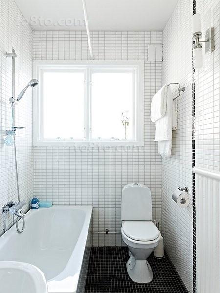 78㎡小户型干净的卫生间瓷砖装修效果图