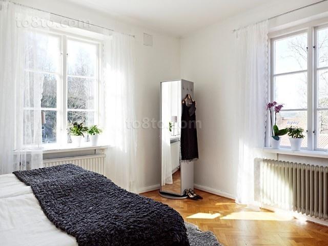 轻盈自然简约风小户型卧室装修效果图大全2014图片