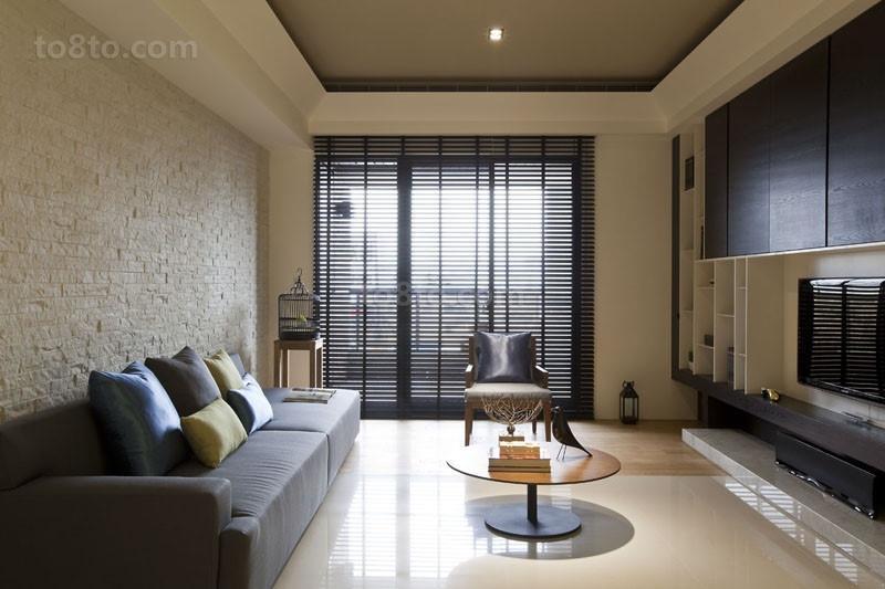 90㎡小户型简约大气的客厅装修效果图大全2014图片