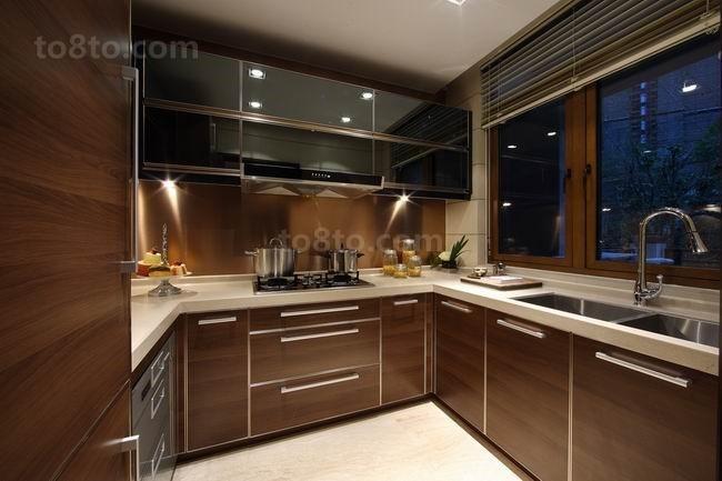 三房两厅美式风格厨房装修效果图大全2014图片
