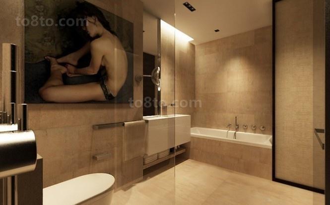 89平小户型装修效果图 淡雅复古风情的卫生间