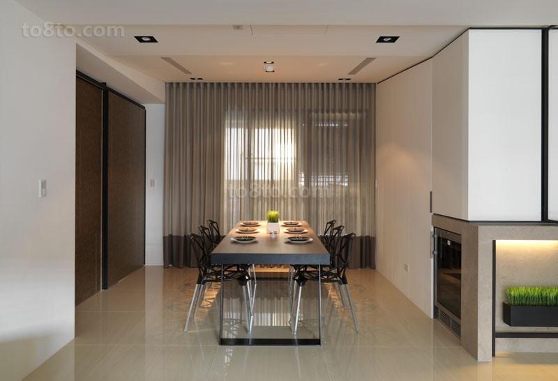 三室两厅细腻温暖现代餐厅装修效果图