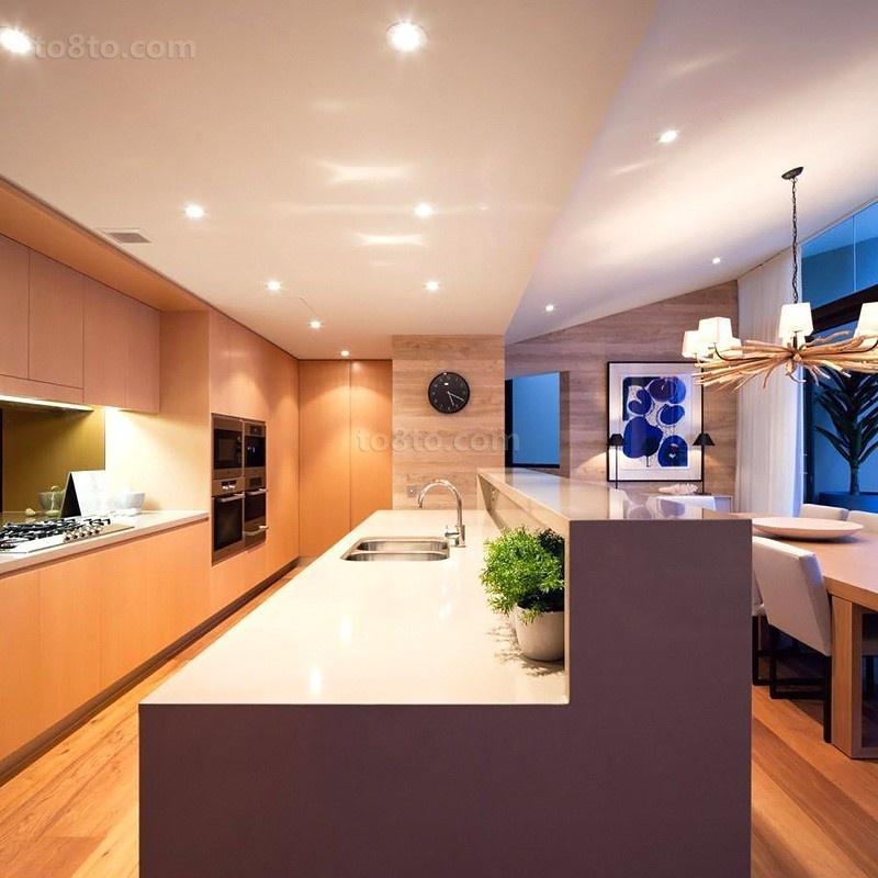 奢华海景房后现代风格整体橱柜效果图
