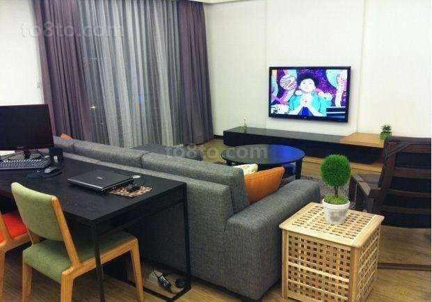 现代简约小户型客厅装修效果图大全2014图片