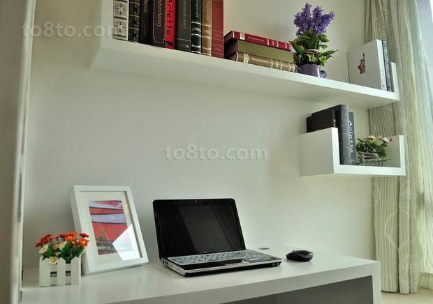 89平米简约小户型书房装修效果图大全2014图片