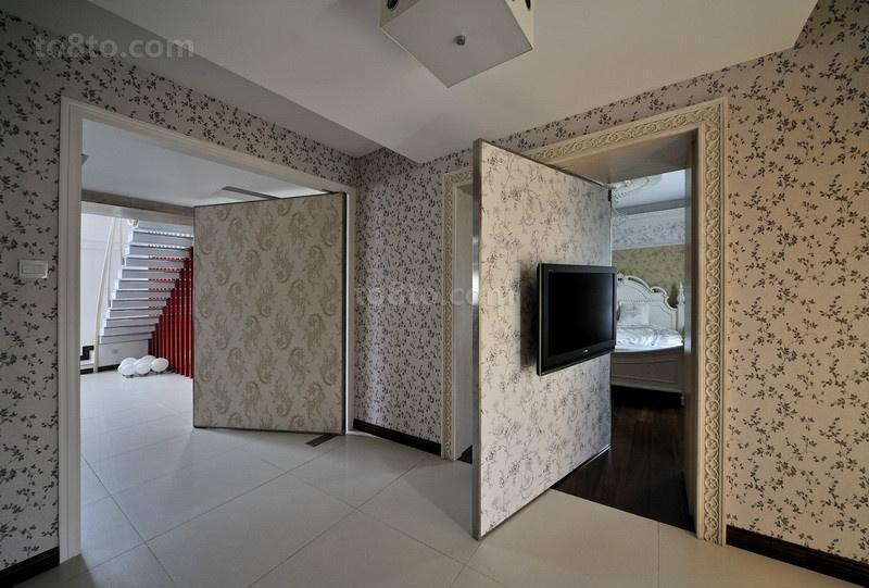 电视背景墙隐形门设计图