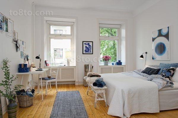 65㎡清新自然的卧室装修效果图大全2014图片