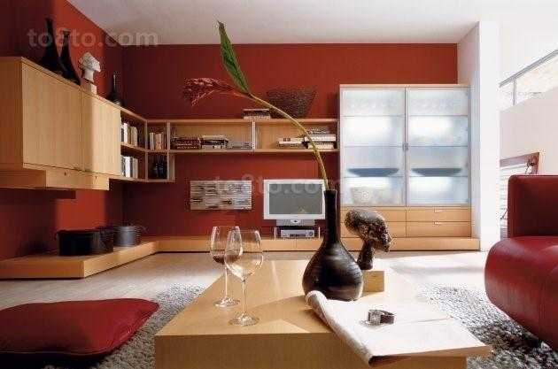 万里江山一片红电视背景墙装修效果图大全2014图片