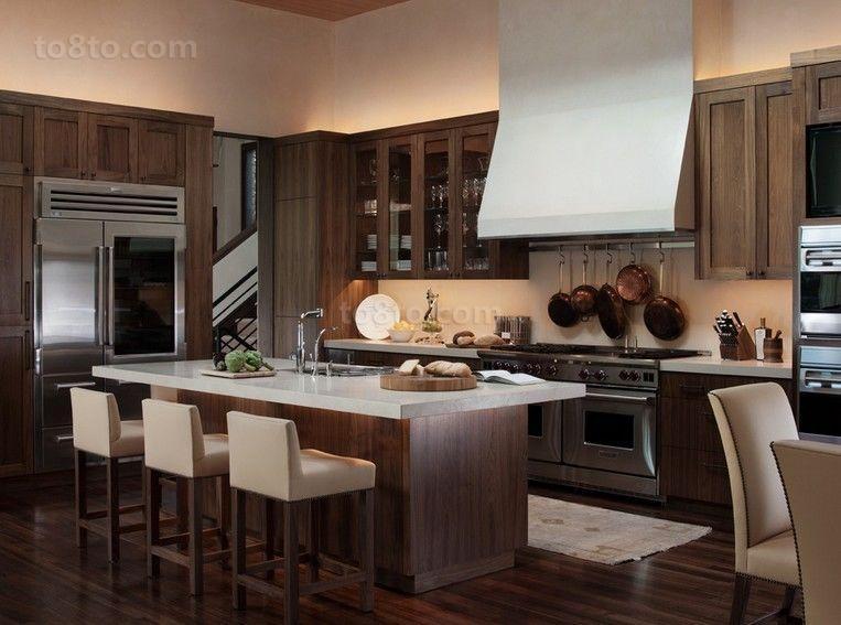 明朗典雅美式厨房装修效果图大全2014图片