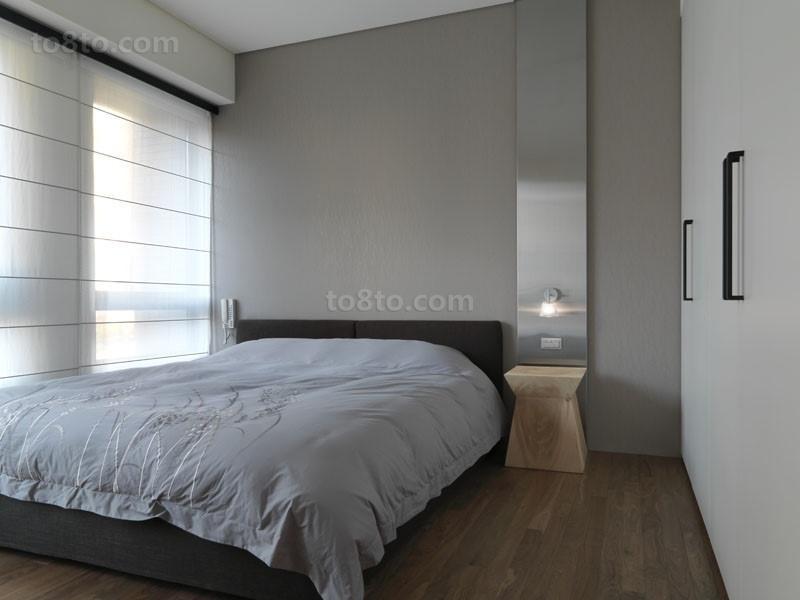 三室两厅细腻温暖现代卧室装修效果图大全2014图片
