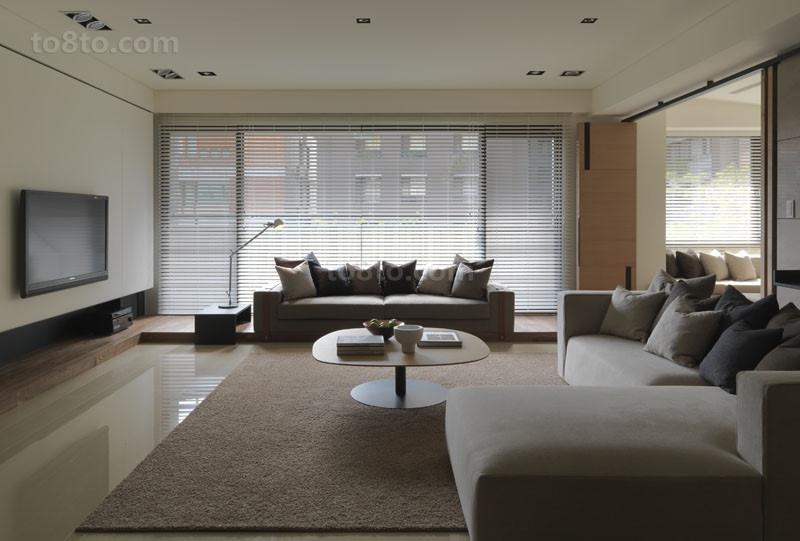 客厅强大的空间感 素雅自然