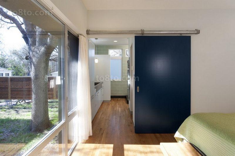 含有美式元素的现代风格卧室窗帘装修效果图