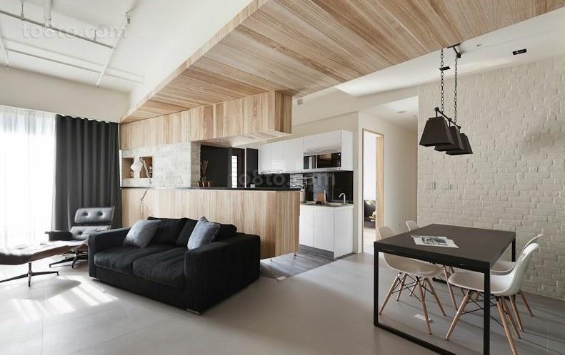 三室两厅两卫现代时尚的餐厅吊顶装修效果图