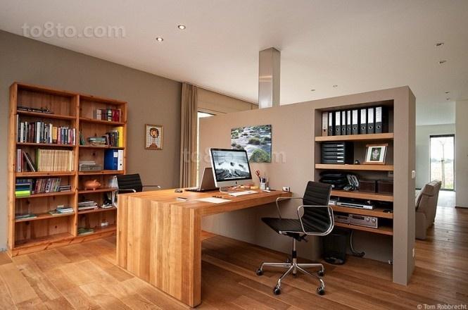 现代时尚的书房装修效果图大全2014图片