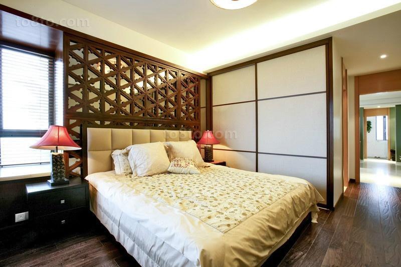 90平米小户型田园风格卧室装修效果图大全2014图片