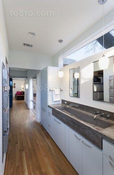 含有美式元素的现代风格卫生间装修效果图