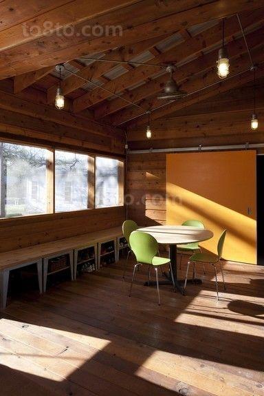 含有美式元素的现代风格餐厅装修效果图