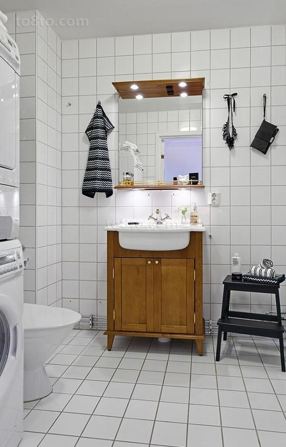 65㎡小户型卫生间瓷砖装修效果图大全2014图片