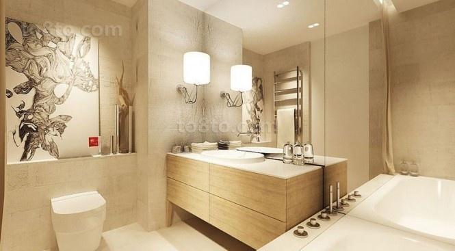 80后文艺青年小复式卫生间装修效果图大全2012图片