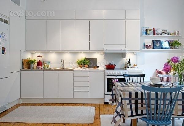 65㎡清新自然的厨房装修效果图大全2014图片
