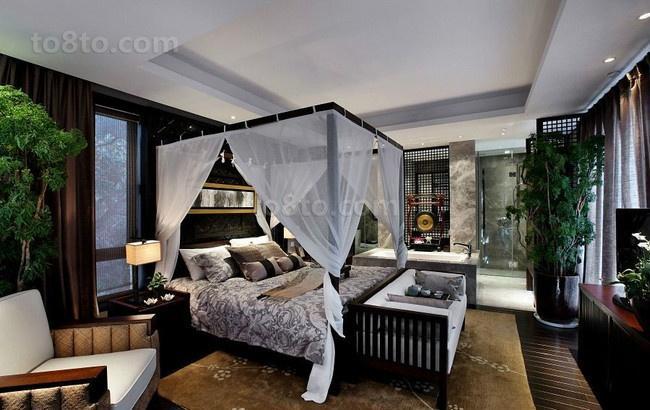 奢华中式装修效果图卧室图片