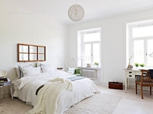 小户型白色纯美的卧室装修效果图大全2014图片