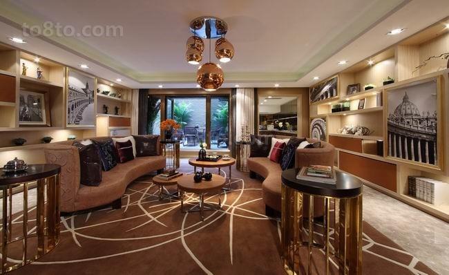 四居室现代客厅室内装修效果图大全2014图片