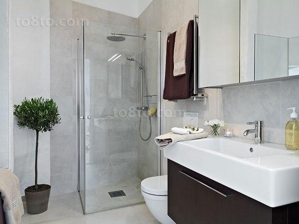 65㎡小户型阁楼翻新 绿色自然的卫生间装修效果图