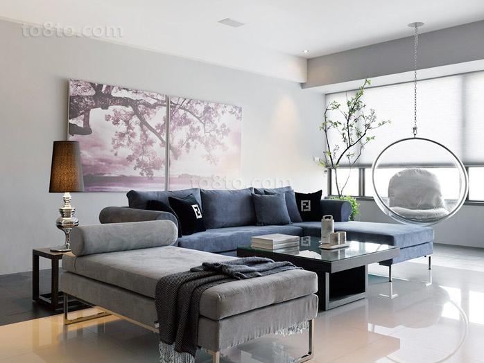 淡雅宜人的小户型客厅装修效果图大全2014图片