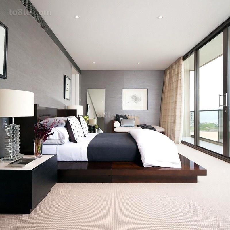 奢华海景房后现代风格卧室图片