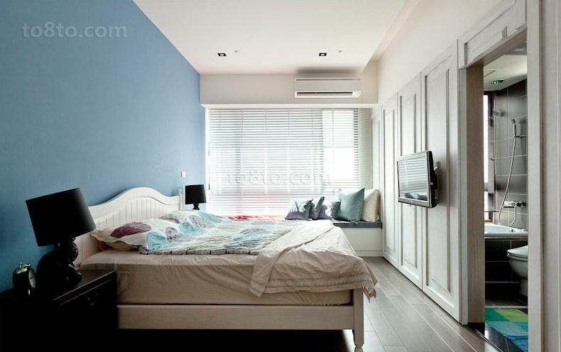 浅蓝色卧室装修效果图大全2012图片