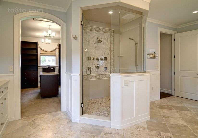 奢华美式风格装修卫生间图片