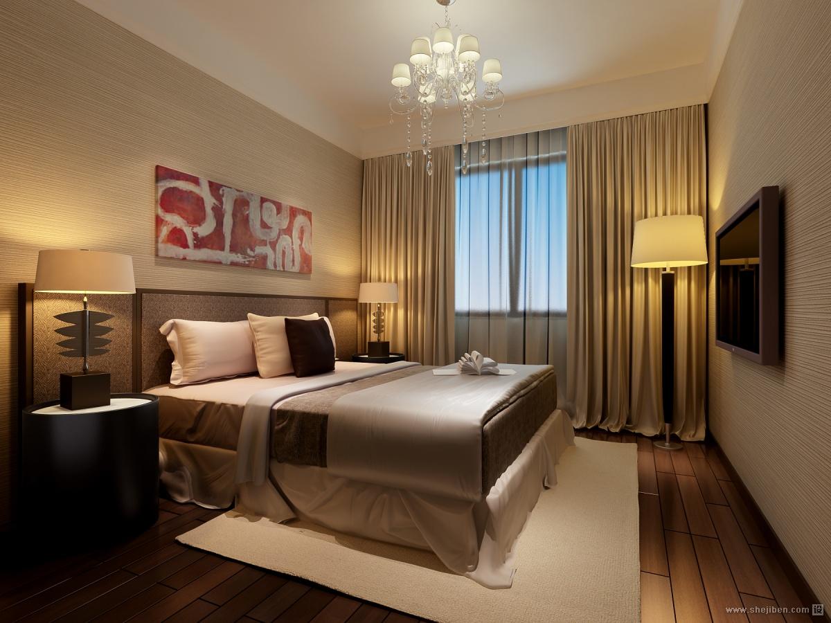 热门面积83平小户型卧室混搭装修实景图
