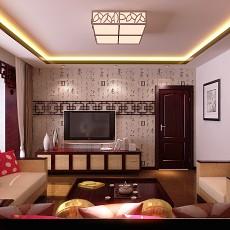 2018面积83平中式二居客厅装修设计效果图