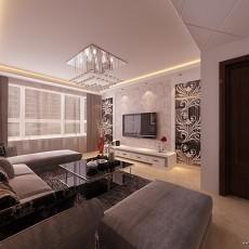2018大小76平现代二居客厅装修设计效果图