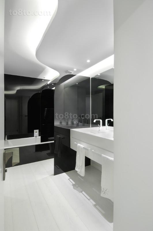 三室两厅两卫现代极简风卫生间装修效果图大全2014图片