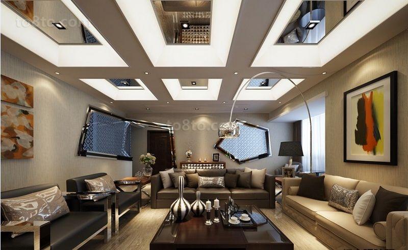 两房两厅美式客厅装修效果图大全2014图片