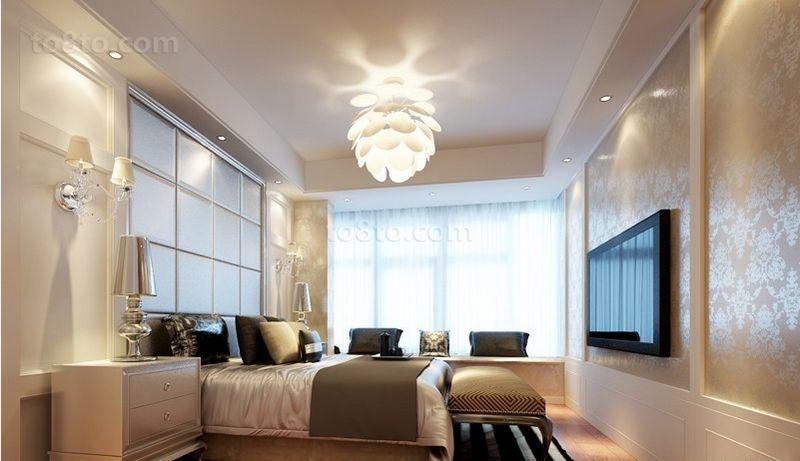 两房两厅美式卧室装修效果图大全2014图片