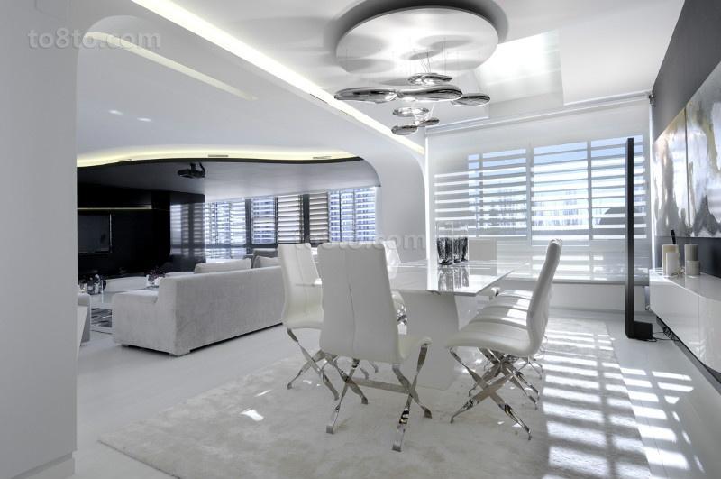 三室两厅两卫现代极简风餐厅装修效果图