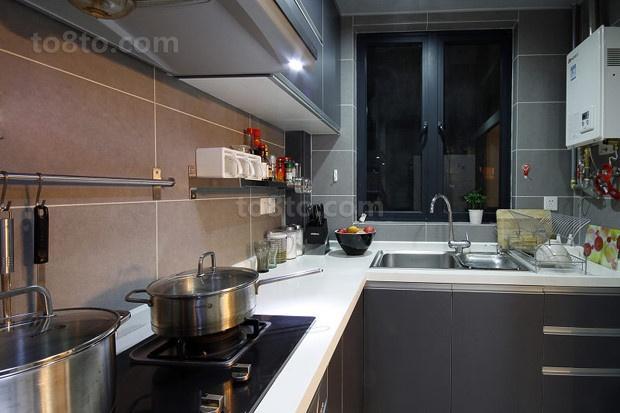 90平小户型家庭厨房装修效果图大全2014图片
