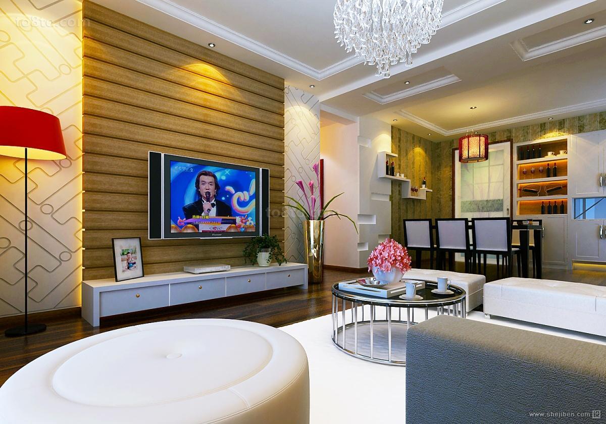 90平米小户型客厅电视背景墙装修效果图大全2012图片