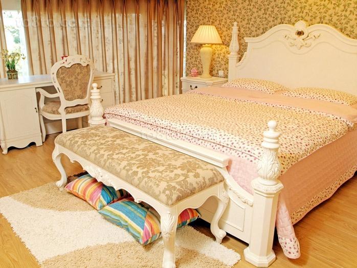 清新淡雅的现代元素的欧式风格装修效果图卧室图片