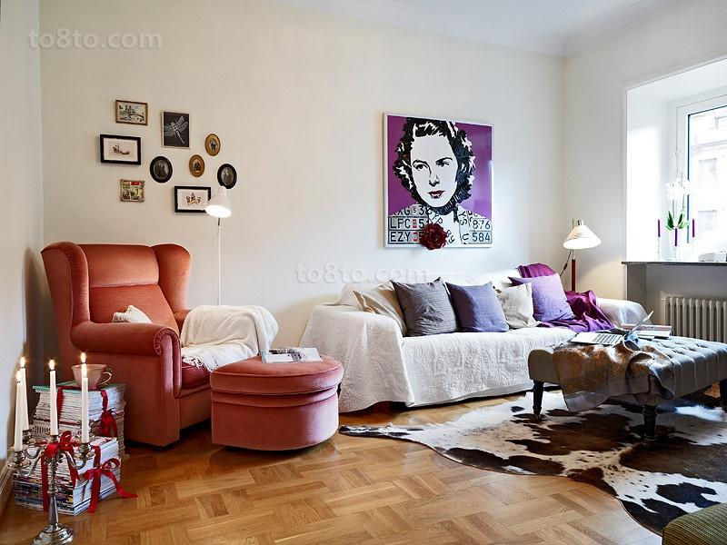 简单小清新的简约风格装修客厅图片