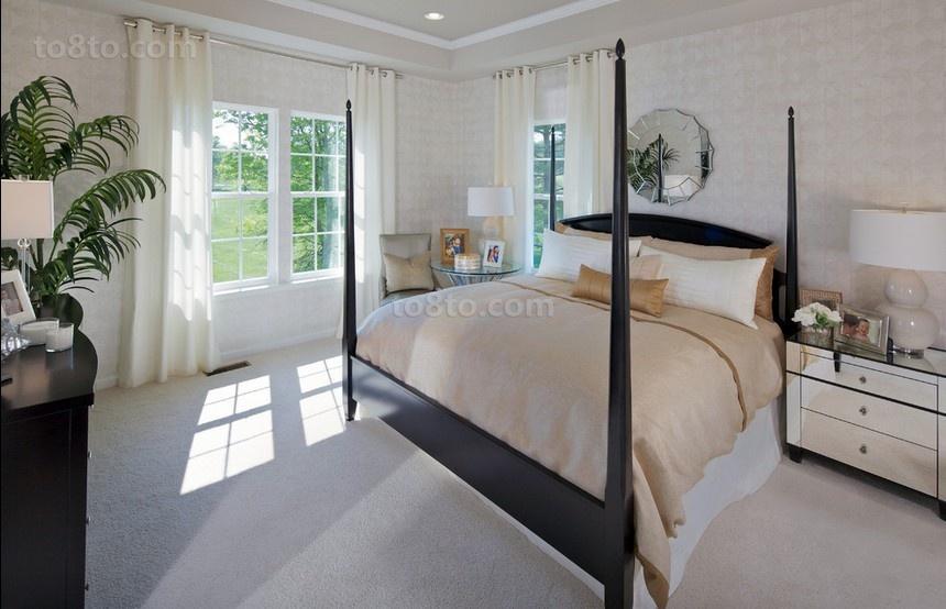 微微的田园美式风格装修卧室图片