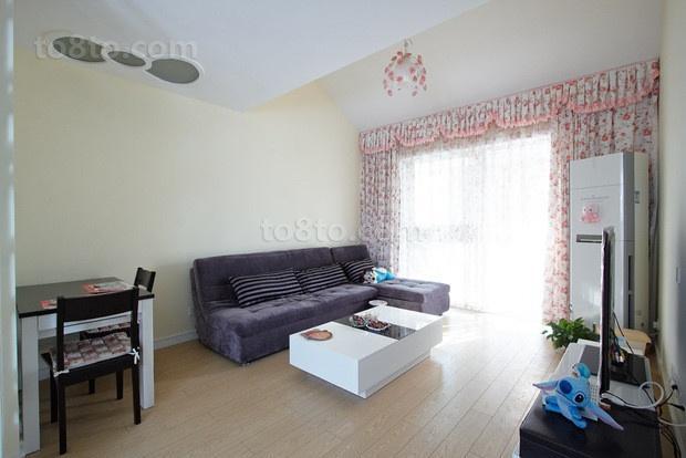 70平米小户型婚房 客厅装修效果图大全2012图片