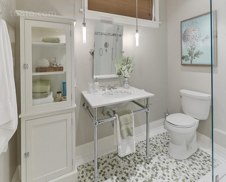 深深的感受温馨浪漫的简约风格装修卫生间图片