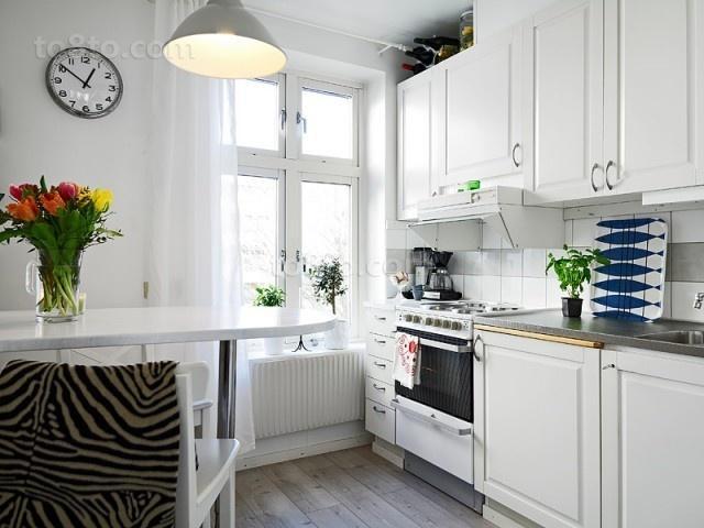 50平米小户型北欧风格厨房装修效果图大全2014图片