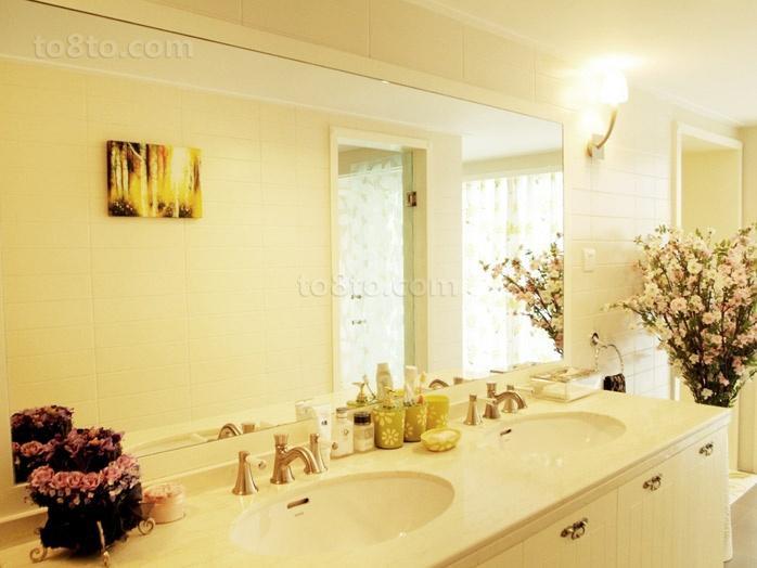清新淡雅的现代元素的欧式风格装修效果图卫生间图片